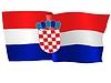 Векторный клипарт: развевающийся флаг Хорватии