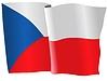 Векторный клипарт: развевающийся флаг Чехии