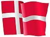 Векторный клипарт: развевающийся флаг Дании