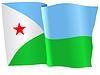 Векторный клипарт: размахивать флагом Djibuti