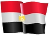 Vector clipart: waving flag of Egypt
