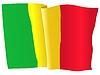 Векторный клипарт: развевающийся флаг Мали