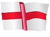 Векторный клипарт: развевающийся флаг Англии