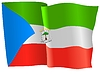Векторный клипарт: развевающийся флаг Экваториальной Гвинеи