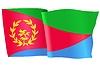 Векторный клипарт: развевающийся флаг Эритреи