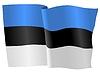 Векторный клипарт: развевающийся флаг Эстонии