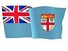 wehende Flagge von Fidschi