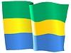 Векторный клипарт: развевающийся флаг Габон