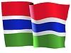 Векторный клипарт: размахивать флагом Гамбии