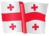 Векторный клипарт: развевающийся флаг Грузии