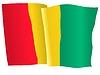 Векторный клипарт: развевающийся флаг Гвинеи
