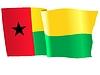 Векторный клипарт: развевающийся флаг Гвинеи-Бисау