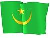 Векторный клипарт: развевающийся флаг Мавритании