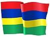 Векторный клипарт: развевающийся флаг Маврикий