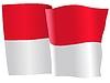 Векторный клипарт: развевающийся флаг Индонезии