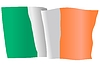 Vector clipart: waving flag of Ireland