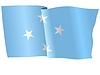 Vector clipart: waving flag of Micronesia