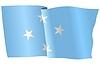 Векторный клипарт: развевающийся флаг Микронезии