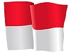 Vector clipart: waving flag of Monaco