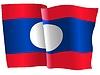 Векторный клипарт: развевающийся флаг Лаоса
