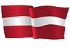 Векторный клипарт: развевающийся флаг Латвии