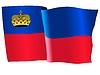 Векторный клипарт: развевающийся флаг Лихтенштейн