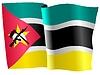 Векторный клипарт: развевающийся флаг Мозамбика