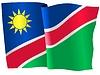 Векторный клипарт: развевающийся флаг Намибии