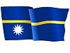 Векторный клипарт: развевающийся флаг Науру