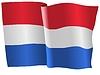 Векторный клипарт: развевающийся флаг Нидерланды