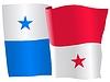 Векторный клипарт: Развевающийся флаг Панамы