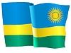Векторный клипарт: развевающийся флаг Руанде