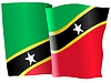 waving flag of Sant Kitts and Nevis