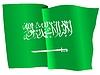 Векторный клипарт: размахивать флагом Саудовской Аравии