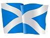 Векторный клипарт: развевающийся флаг Шотландии