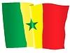 Векторный клипарт: развевающийся флаг Сенегала