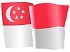 Векторный клипарт: развевающийся флаг Сингапур