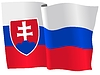 Векторный клипарт: развевающийся флаг Словакии