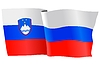 Векторный клипарт: развевающийся флаг Словении