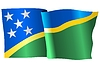 Vector clipart: waving flag of Solomon Islands