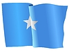 Векторный клипарт: развевающийся флаг Сомали