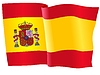 Waving flag of Spain | Stock Vector Graphics