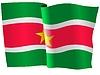 Векторный клипарт: развевающийся флаг Суринам