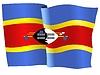 Векторный клипарт: развевающийся флаг Свазиленд