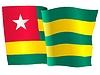 Векторный клипарт: развевающийся флаг Того