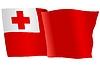 Векторный клипарт: развевающийся флаг Тонга