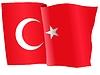 Векторный клипарт: развевающийся флаг Турции