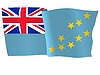 Векторный клипарт: размахивать флагом Тувалу
