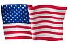 Векторный клипарт: развевающийся флаг США