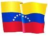 Векторный клипарт: развевающийся флаг Венесуэлы